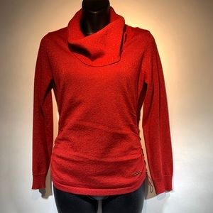 Michael Kors cowl neck sparkling red sweater